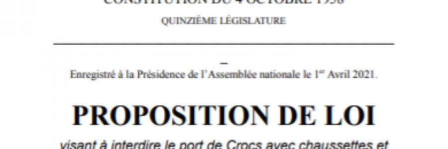 Proposition de Loi du 1er Avril